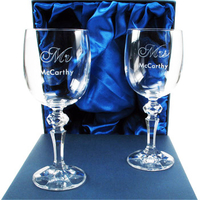 Anniversary  - Crystal 40th Anniversary Wine Glasses