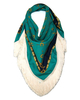 Clothing & Accessories Fringed large square silk scarf