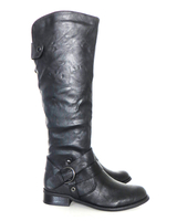 Purses & Wallets  - Vegan Jessica Knee Length Biker Style Boots