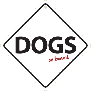 Car Blankets & Rugs  - Dogs on Board Sign