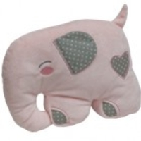Puppets, Dolls & Figures  - Elephant Shape Cushion - Pink