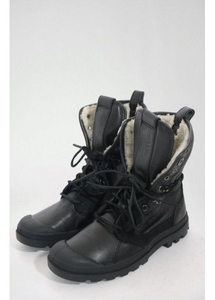 Baggy Shearling Boot Black