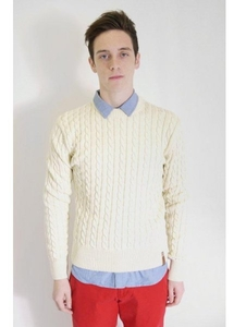 Cable Knit Sweater White