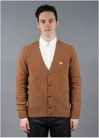 Lambs Wool Cardigan Brown