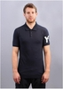 M CL Logo Polo - White on Navy