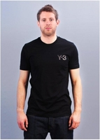 M CL Short Sleeve Logo Tee - Black on Black
