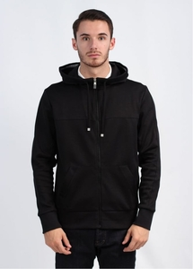 Saggy Zip Hoody - Black