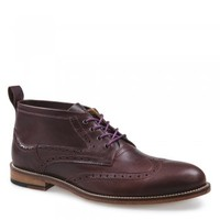 Hyde Mens Raisin Leather Brogue Boot E8301