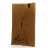 J Shoes Brown Leather Passport Holder