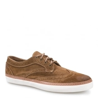 Novello Mens Dachshund Brown Suede Leather Trainer
