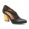 Women's Shoes Sienna Women's Black Leather Heeled Shoes J2001