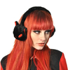 Women's|Men's|Non-permanent Colouring Bye Bye Kitty Earmuffs (Black/Red)
