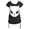 Women's Fashion|Women's|Women's Bye Bye Kitty Lick Design Top (Black)