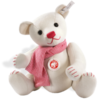 Soft Toys Steiff White Felt Teddy with Scarf