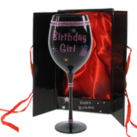 Birthday  - Birthday Girl Large Wine Glass