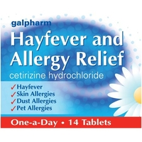 Treatment & Prevention|Lip Make Up  - Galpharm Hayfever and Allergy Relief Tablets 14s