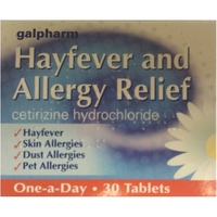 Health & Wellbeing|Treatment & Prevention  - Galpharm Hayfever and Allergy Relief Tablets 30s