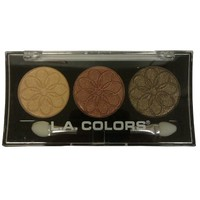 Health & Wellbeing|Body Care & Cosmetics|Eye Shadow  - LA Colors 3 Color Eyeshadow Palette CES445 - Sunflower