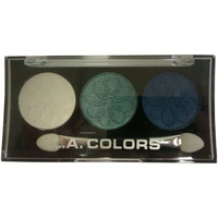 Health & Wellbeing|Body Care & Cosmetics|Eye Shadow  - LA Colors 3 Color Eyeshadow Palette CES447 - Forget-Me-Not