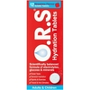 O.R.S Oral Rehydration Salts Strawberry Flavour Soluble Tablets 12s