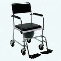 Bath & WC|Bedroom  - Z-TEC Chrome Steel Mobile Commode Chair