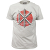 T-Shirts, Polos & Tops Dead Kennedys Mens Fitted T Shirt - Distressed DK Logo White