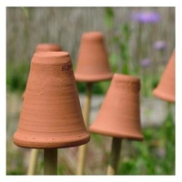 Plants & Plant Care|Flower Pots & Stands  - Terracotta Flowerpot Cane Toppers (set Of 5)