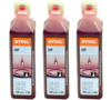 3x Stihl 2 Stroke Oil One Shot 100ml Bottles 0781 319 8401