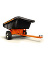 AGRI-FAB Smartcart Towed 12 Cubic Ft Poly Cart