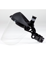 Safety Glasses & Noise protection  - Brushcutter - Clear Visor with Plastic Strap