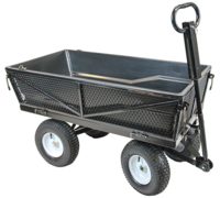 Wheelbarrows & Sack Trucks  - Handy THMPC Tipping Garden Trolley with Liner