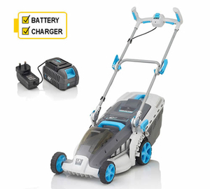 Swift EB137C2 Wide+ Cordless Lawn Mower with Battery and Charger