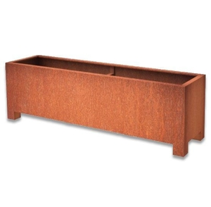 Flower Pots & Stands  - Andes Trough With Feet | Adezz Corten Steel Planters