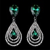 2014 New Arrival Waterdrop Crystal Rhinestone Statement Drop Earring