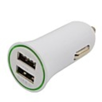 Chargers & Charging Stations  - 2.1A/ 1A Dual-USB Mini Auto Car Charger Adapter for iPhone iPod Smart Phone