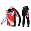 Bicycle MYSENLAN Men's Winter Warm Long Sleeve Cycling Suits Dual Side Fleece Red Autumn Fall