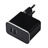 Accessory Sets  - Universal Compact Dual USB Detachable 100~240V EU Plug Power Charging Adapter