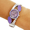 Womens Women's Diamante Round Dial Quartz Analog Bracelet Watch