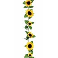 Cars & Motorbikes  - 1 Branch 260cm Fake Silk Sunflower Ivy Vine Artificial Flowers With Green Leaves Hanging Garland Garden Fences Home Wedding Decoration