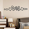 5 Colors Geometry Art Wall Sticker Mirror Wall Stickers Decorative Self Adhesive
