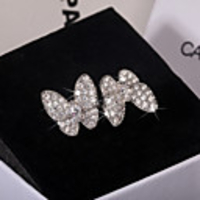 Cars & Motorbikes  - Adjustable Ring AAA Cubic Zirconia Mismatched Silver Brass Butterfly Stylish Sweet 1pc Adjustable / Women