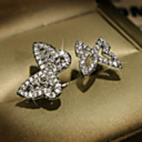 Cars & Motorbikes  - Adjustable Ring AAA Cubic Zirconia Mismatched Silver Brass Butterfly Trendy Korean 1pc Adjustable / Women