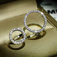 Cars & Motorbikes  - Adjustable Ring AAA Cubic Zirconia Mismatched Silver Brass Love Trendy Korean 1pc Adjustable / Women