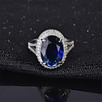 Cars & Motorbikes  - Adjustable Ring Emerald Classic Blue Green Copper Imitation Diamond Flower Fashion 1pc Adjustable / Women