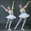 Ballet Dancer LED Layered Vacation Dress Tutu Bubble Skirt Under Skirt Women