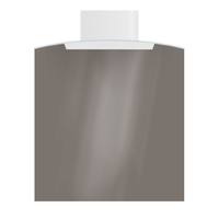 Cooking & Baking Equipment  - CDA ASG72CGR Splashback Curved Glass 70cm Wide 75cm High Grey