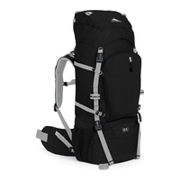 High Sierra Frame Packs Sentinel 65 81cm Black/Black/Silver