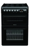 Hotpoint HAG60K Cooker Freestanding Gas Double Oven Black