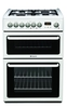 Hotpoint HAG60P Cooker Freestanding Gas Double Oven Polar White