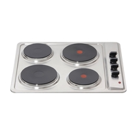 Ovens & Cookers  - Matrix MHE001WH Electric Hob 4 Zone Side Knob Control White
